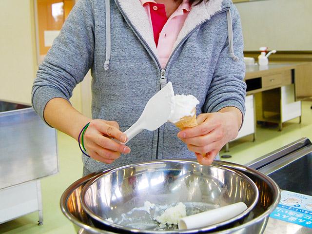 アイスクリーム作り体験