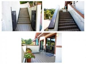 レストラン牧場の階段