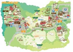 六甲山牧場の場内マップ