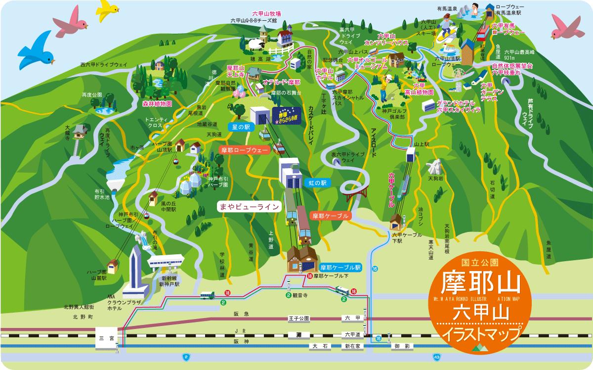 摩耶・六甲山マップ