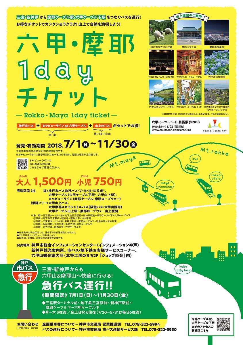 六甲・摩耶1dayチケット